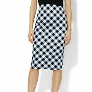 NY&Co Gingham Pencil Skirt